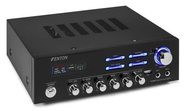 Fenton AV120BT Stereo Hifi Verstärker mit Bluetooth und USB-Media MP3 Player