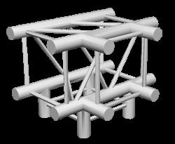ExpoTruss X4K-30 Alu 4-Punkt T-Stück 4Weg