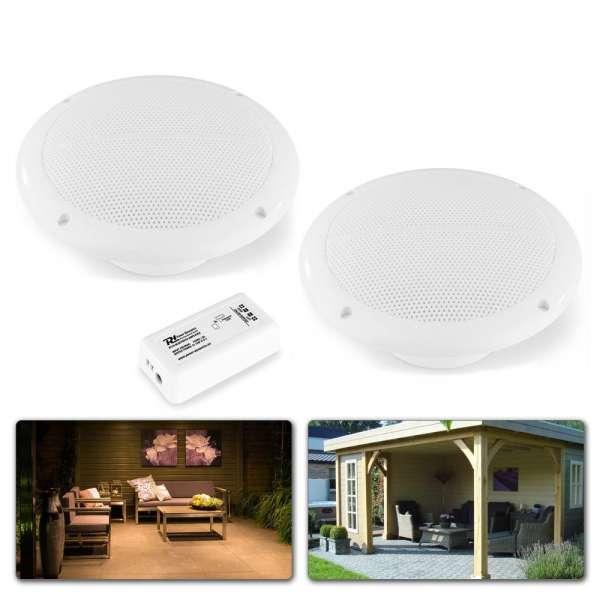 Power Dynamics BT10SET Installations-Lautsprecher Set mit Bluetooth-Verstärker für den Außenbereich