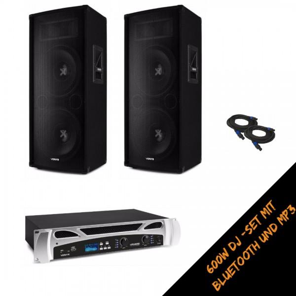 Vonyx Powertower Partyset 600W mit Bluetooth und MP3