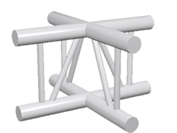 ExpoTruss X2K-30 Alu 2-Punkt Kreuz vertikal