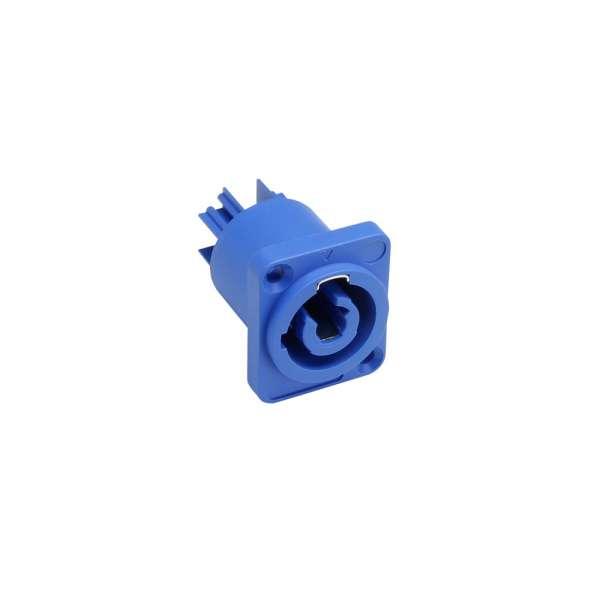 Adam Hall Connectors 7921 Einbaustecker, Power-In, blau