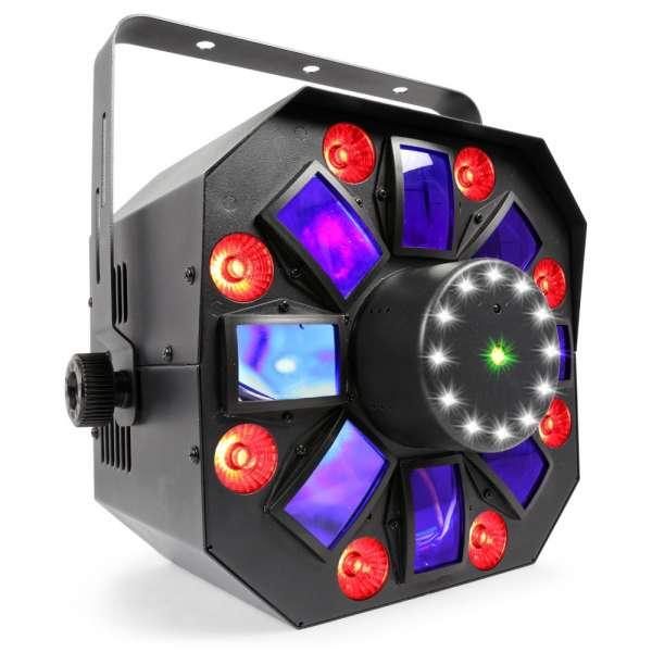 BeamZ MultiAcis IV 6x3W RGBAWUV, LASER