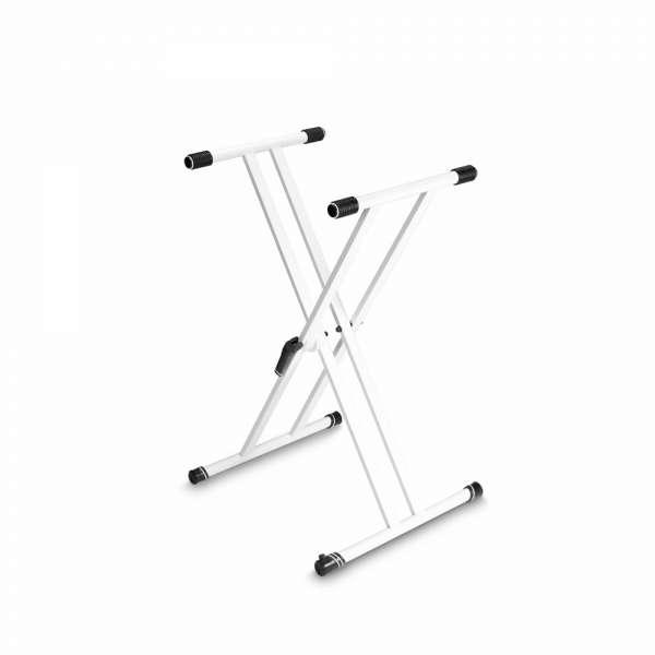 Gravity KSX 2 W Keyboardstativ X-Form doppelt weiß
