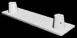 ExpoTruss X2K-30 Alu 2-Punkt Bodenplatte male 11x35cm, geschraubt