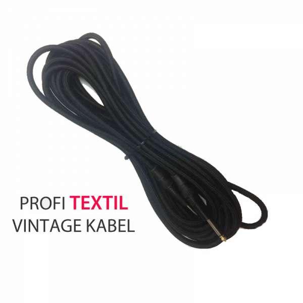 T&M IPPPro10 Instrumentenkabel / Textilkabel Klinke Mono - Klinke Mono 10m