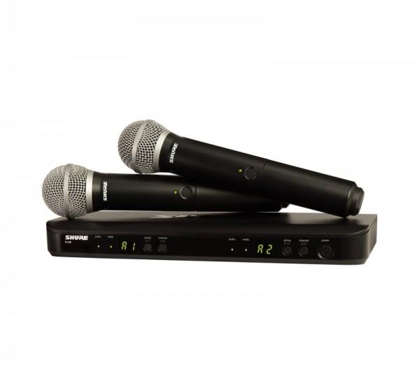 SHURE PG 58 Dual-Vocal-Funksystem PG58 mit BLX88E