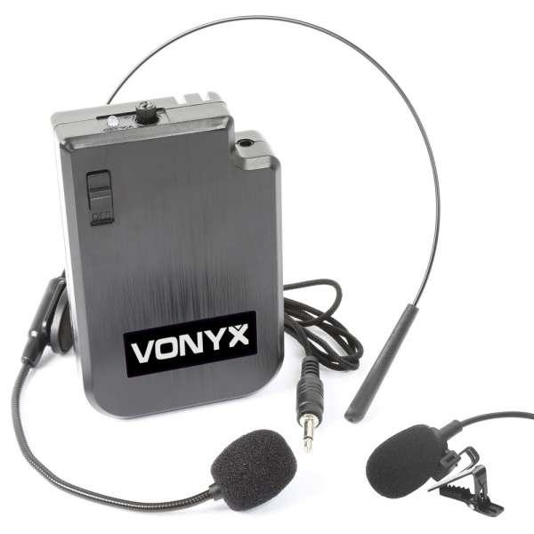 Vonyx VPS10BP UHF Headset zu VPS10 Akkulautsprecher
