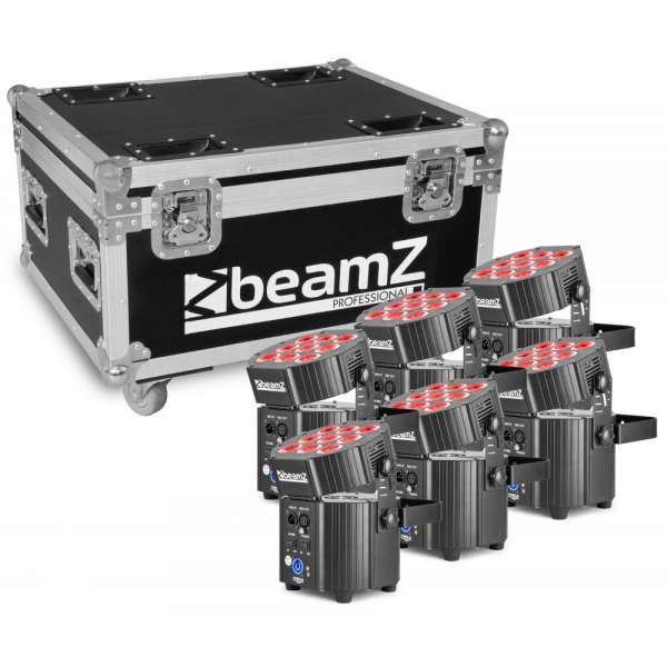 BeamZ Professional BBP60 Uplighter Set 6 Stück im Flightcase