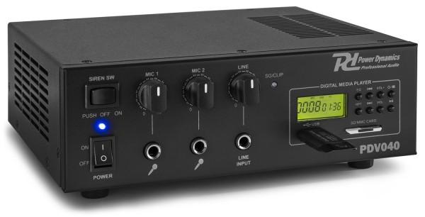 Power Dynamics PDV040 40W/100V Verstärker mit MP3