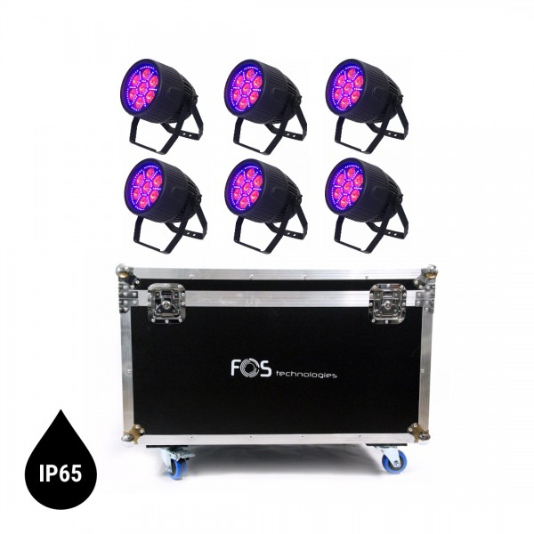 FOS Zoom Par Pro IP65 Outdoor RGBW+UV Tourset