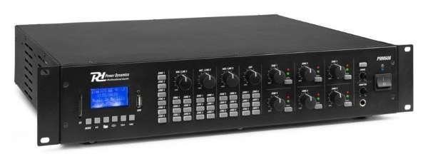 Power Dynamics PRM606 100V 6 Kanal Verstärker mit 6 Zonen und Bluetooth / SD / USB / MP3