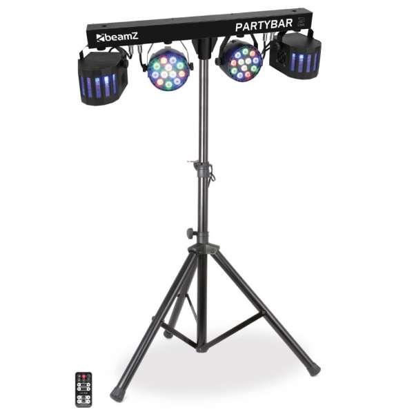 BeamZ Partybar 02 LED Lichtanlage mit 2 x PAR + 2 x Derby