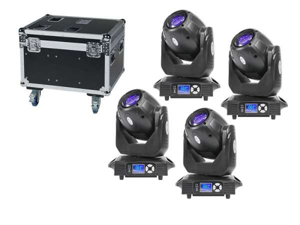 FOS Spot 150 Set Moving Head Set 4x Spot150 + Tourcase