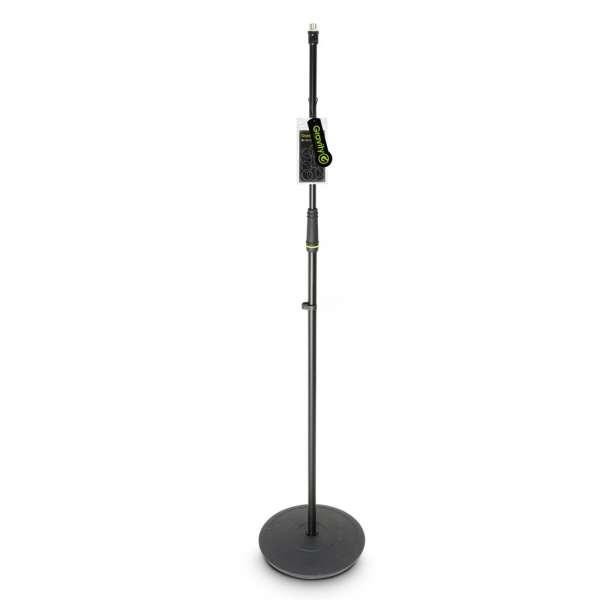 Gravity MS 23 Mikrofonständer gerade mit Tellerfuß schwarz