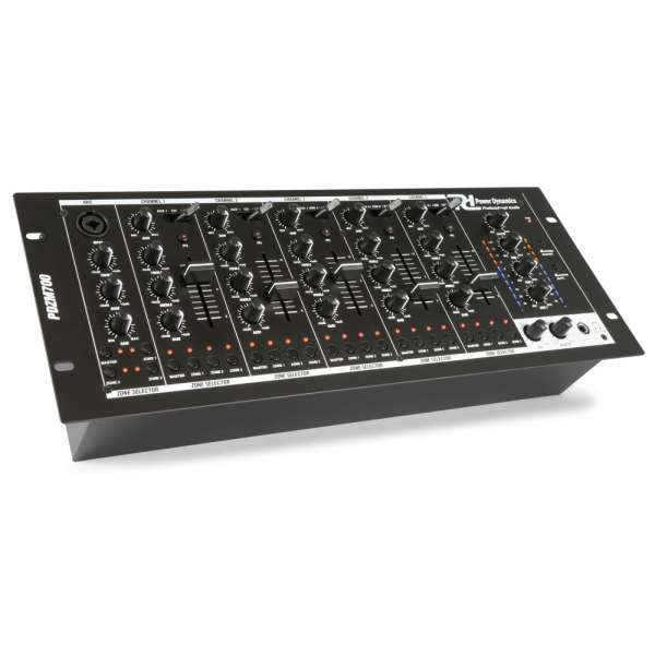 Power Dynamics PDZM700 6 Channel Installation Mixer USB 4 zones
