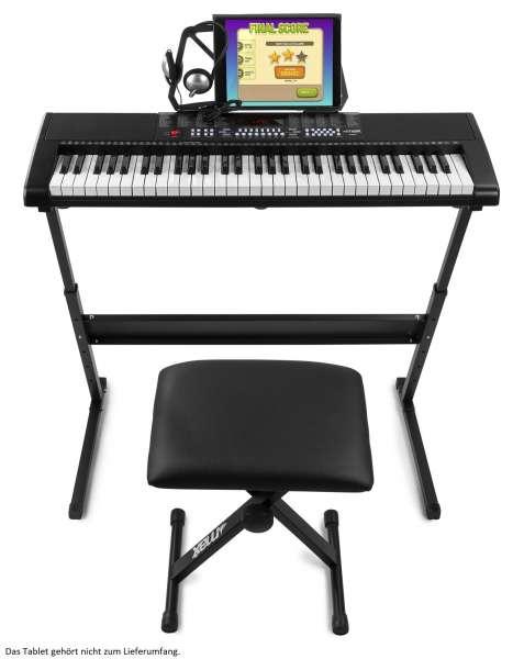 MAX KB4SET Keyboard Set mit 61-Tasten-Keyboard, Ständer, Hocker und Kopfhörer