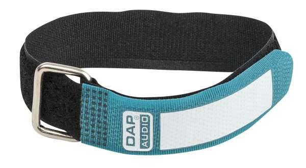DAP-Audio Snap Fastener Kabelklettbänder mit Metallring - grün - schmal