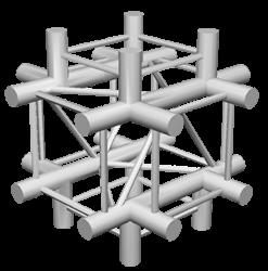 ExpoTruss X4K-30 Alu 4-Punkt Kreuz 6Weg