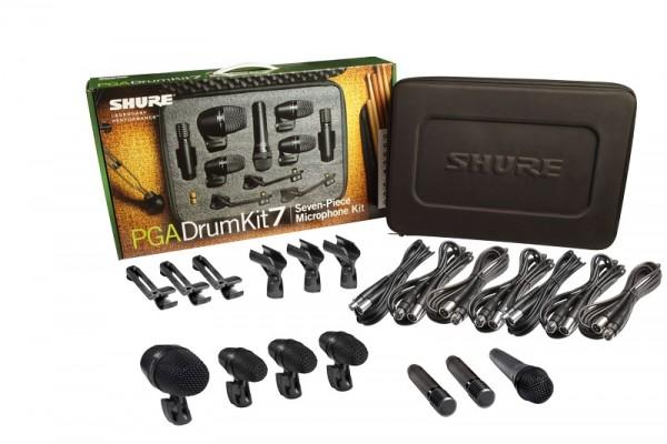 SHURE Drum-Mikrofon-Set PGA52/3x56/57/2x81