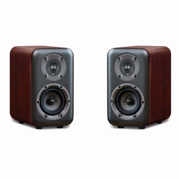 Wharfedale D320 2-Wege Lautsprecher (1 Paar Bassreflex Kompaktlautsprecher Rosewood)