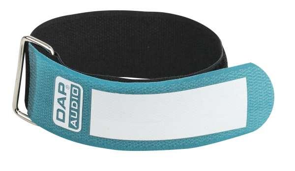 DAP-Audio Snap Fastener Kabelklettbänder mit Metallring - grün - breit