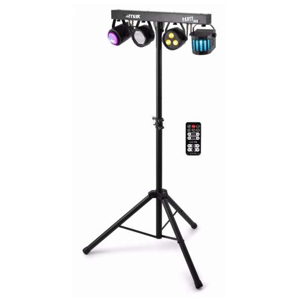 MAX Partybar 09 LED Lichtanlage mit Jellymoon, Strobe, Derby und Par