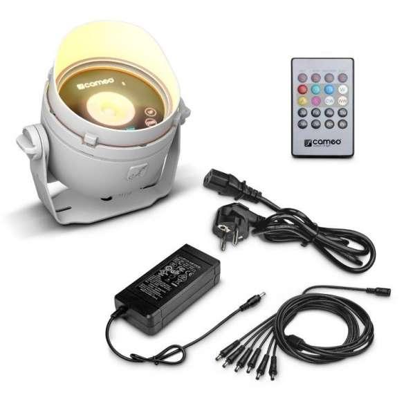 Cameo DROP B1 weiß Akkubetriebenes Outdoor Mini Uplight inkl. Netzteil