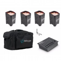 BeamZ BBP96 W-DMX Akku Uplighting Set 4