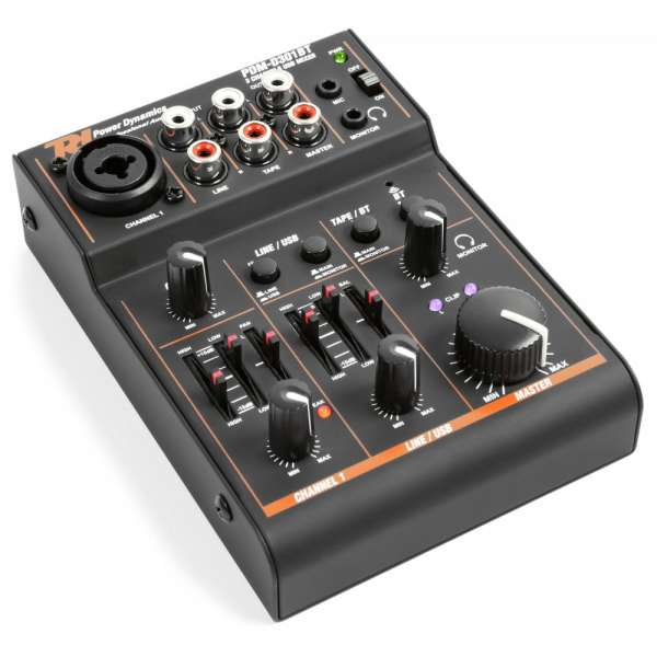 Power Dynamics PDM-D301BT 3-Channel USB Mixer