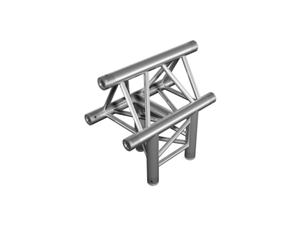 ExpoTruss X3K-30 Alu 3-Punkt 3-Weg T-Stück vertikal Spitze oben