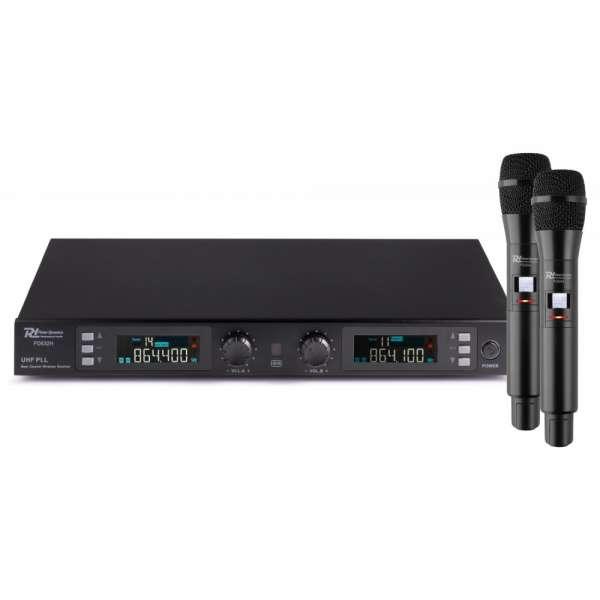 Power Dynamics PD632H 2-Kanal UHF Funkmikrofon Set digital