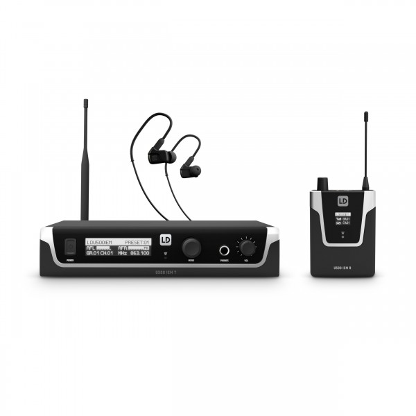 LD Systems U504.7 IEM HP - In-Ear Monitoring-System mit Ohrhörern