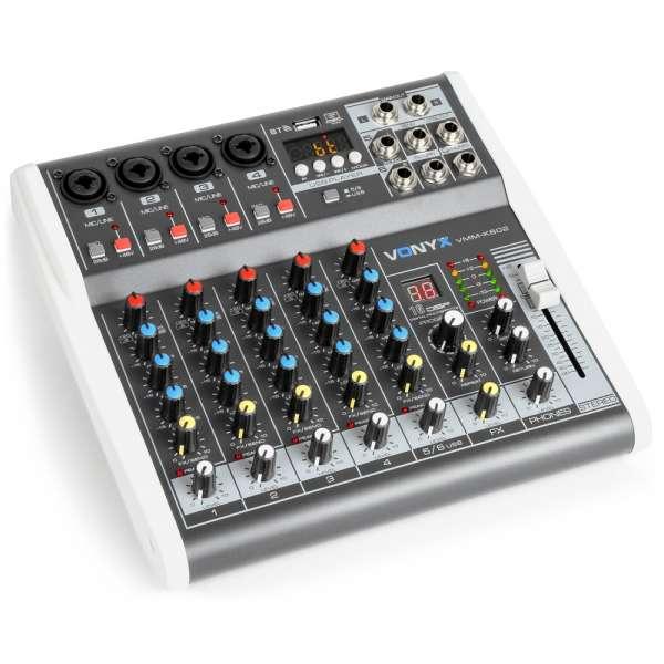 Vonyx VMM-K602 6-Kanal Musik Mixer mit DSP