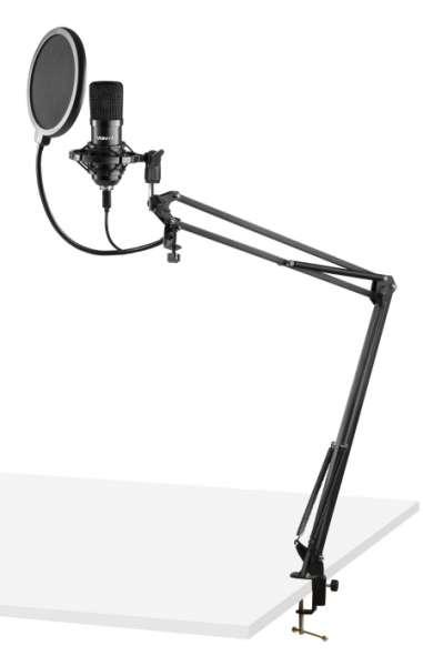 Vonyx CMS300B USB Studio Mikrofon Set schwarz