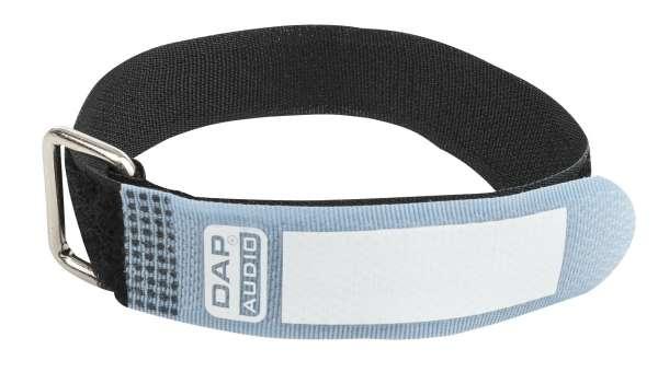 DAP-Audio Snap Fastener Kabelklettbänder mit Metallring - blau - schmal
