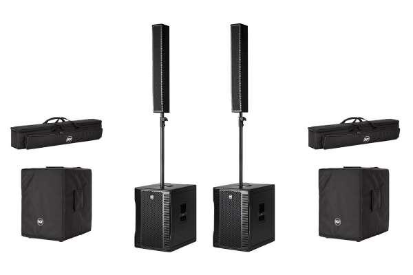 RCF EVOX 12 Stereo PA Set mit Taschen