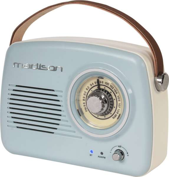 Madison VR30 Nostalgie-Radio mit Bluetooth und AM/ FM Tuner Retrolook