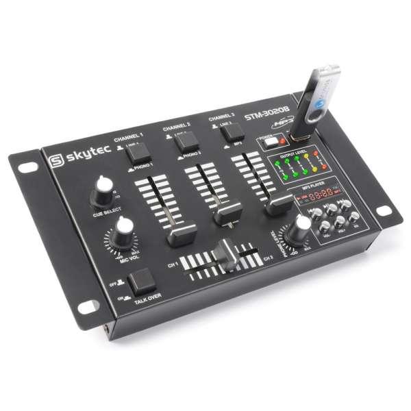 SkyTec STM-3020B 6-Kanal Mischpult mit USB/MP3 - Schwarz