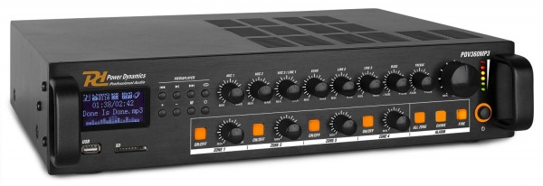 Power Dynamics PDV360MP3 100V Verstärker mit 4 Zonen und Multimedia Player