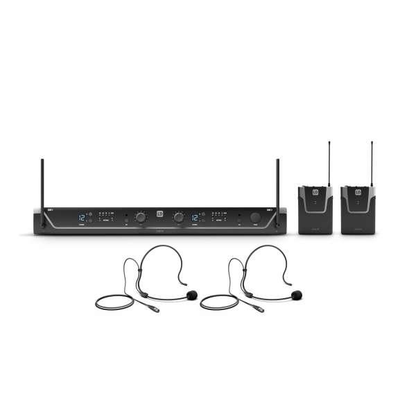LD Systems U308 BPH 2 Dual - Funkmikrofon System mit 2 x Bodypack und 2 x Headset