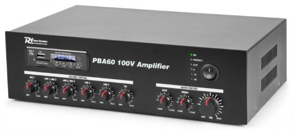 Power Dynamics PBA60 100V Verstärker mit USB / MP3 / BT