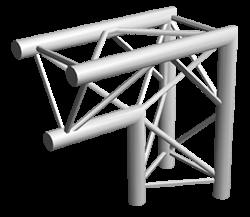 ExpoTruss X3K-30 Alu 3-Punkt 2Weg Winkel 90Grad Spitze Innen