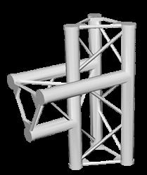 ExpoTruss X3K-30 Alu 3-Punkt 3-Weg T-Stück vertikal / Sp. Innen