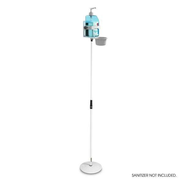 Gravity MS 23 DIS 01 W Höhenverstellbarer Desinfektionsmittelständer mit Universal Halter Weiß