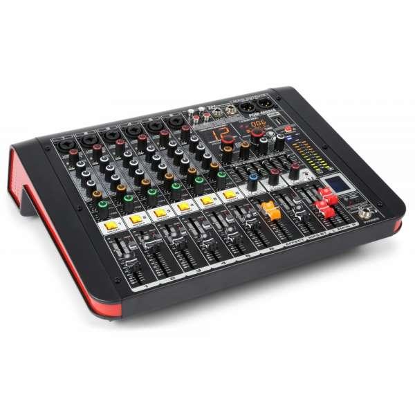 Power Dynamics PDM-M604A 6-Kanal Musik Mixer mit Verstärker