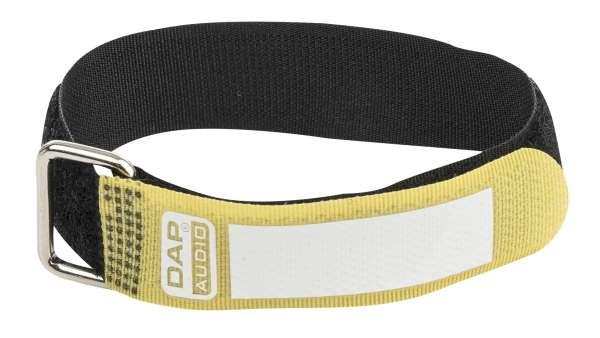 DAP-Audio Snap Fastener Kabelklettbänder mit Metallring - gelb - schmal