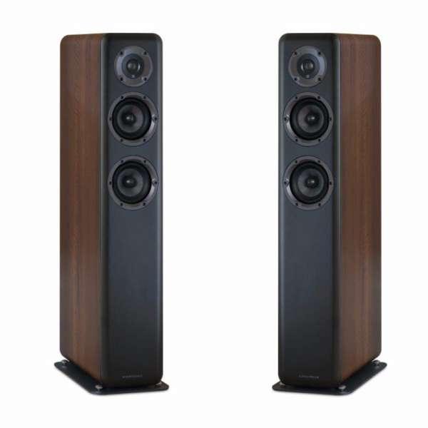 Wharfedale D330 2.5-Wege Lautsprecher (1 Paar Bassreflex Standlautsprecher Walnut Pearl)