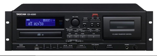 CD-A580 - Kombination aus CD-Player, Kassettendeck und USB-Recorder