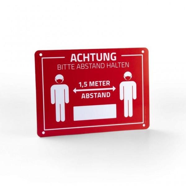 Adam Hall Hardware 88001 COR DE - Hinweisschild 177x127mm Abstand halten Deutsch